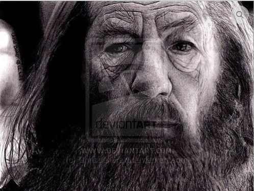 Chris Baker giclee print of Gandalf played by Sir Ian McKellen
