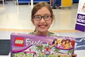 Emily, the Lego Friends Mall & the Toys R Us Knight.