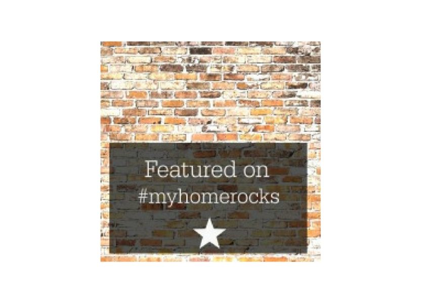 I'm featured in 'My Home Rocks' over at 'A Residence' blog.
