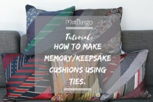 Making precious memories: How to make a cushion using ties.
