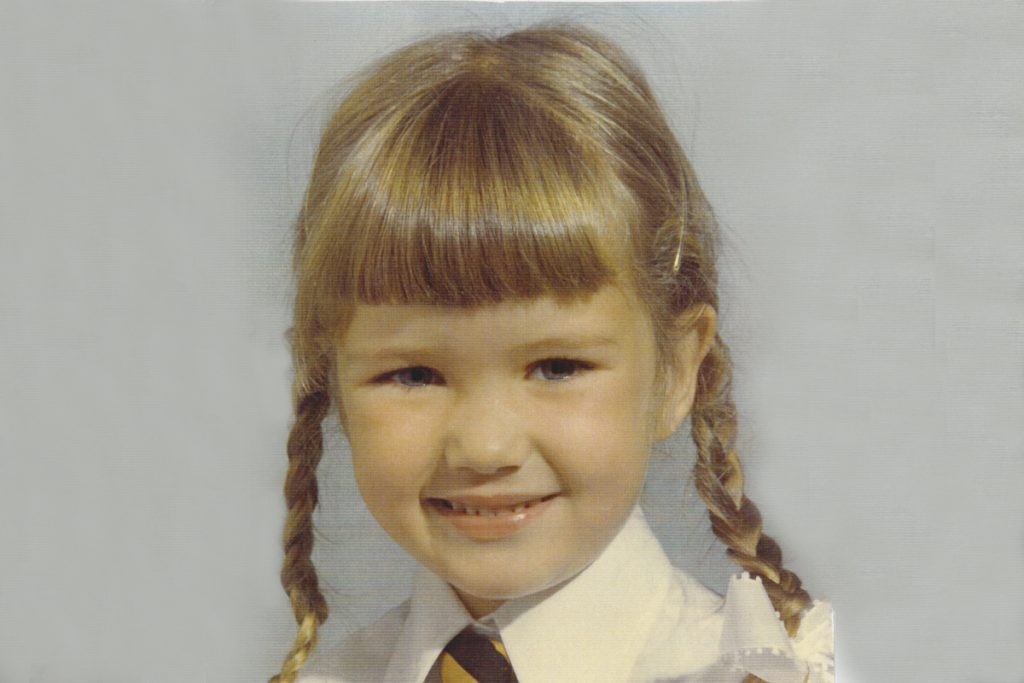 Jane Taylor in her school primary school photo