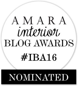 Amara Interior Blog Awards Nominated Badge 2016
