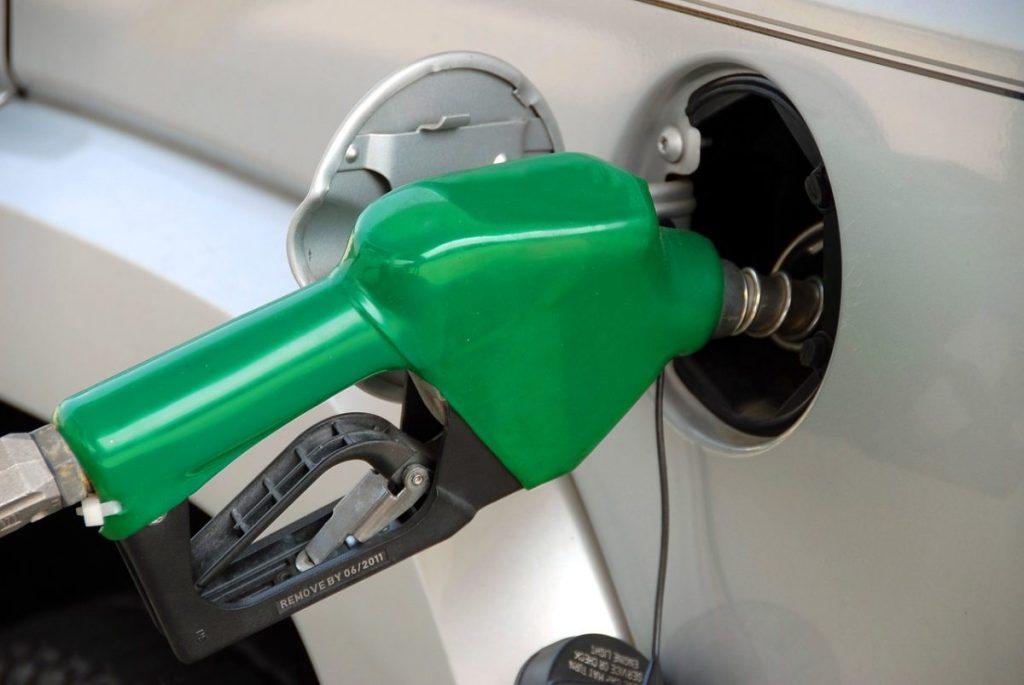 green petrol nozzle