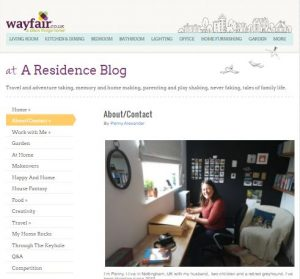 Wayfair A Residence Blog webpage