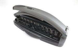 M by Staples Arc Hole Punch Black and Grey unlocked