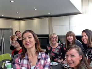 Me taking selfie of us all #BloggersBeatingCancer Coffee Morning gathering with Nottingham Bloggers
