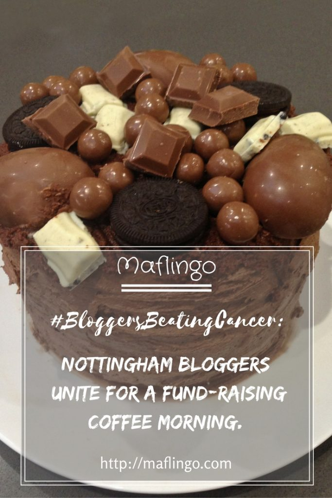 #BloggersBeatingCancer coffee morning. Beating Cancer with coffee and a hashtag. I host a coffee morning for Nottingham BLoggers where we chat, eat cake, drink coffee, cuddle babies and raise money for Macmillan Cancer and Bart's Charity.