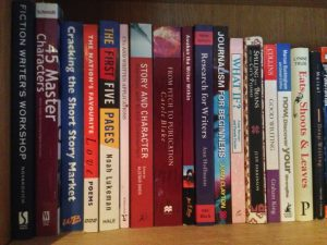 Books about the art of writing on my bookshelf
