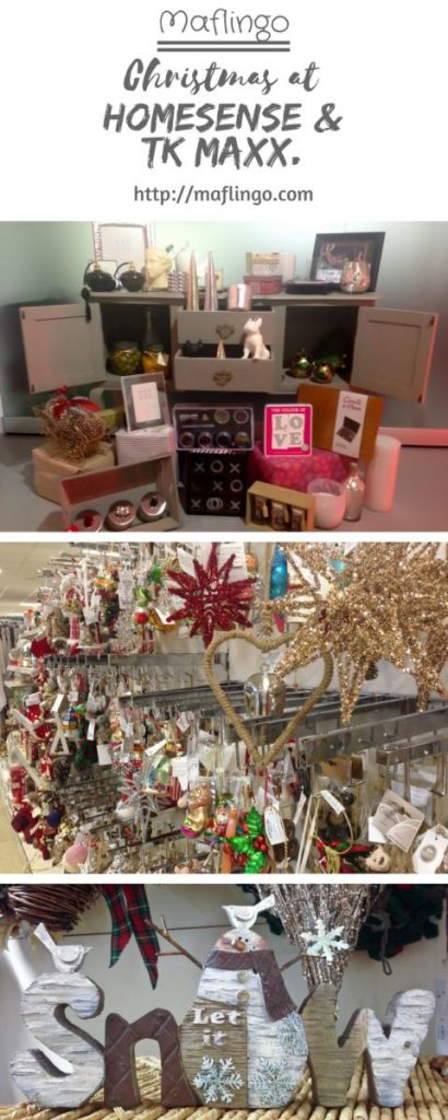 Have a glittering Christmas at Homesense & TK Maxx Home, there are baubles, tinsel, Christmas decorations, gifts, lights, candles.