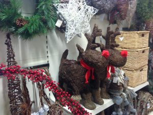 More Christmas decorations from Homesense including wooden Rudolfs
