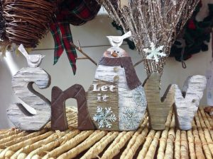 Wooden Snow letter plaque from Homesense