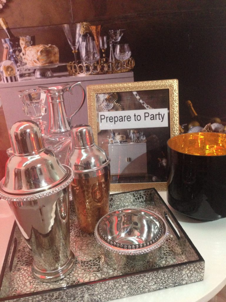 Close-up of Christmas Party items from Homesense