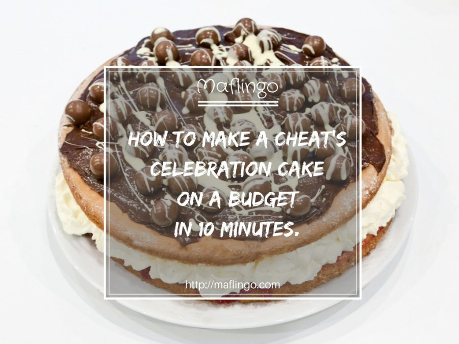 How to make a cheat's birthday cake in 10 mins for less than £10.
