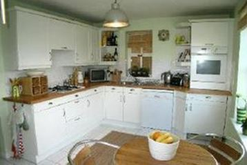 Our white shakerstyle kitchen when we first moved itn