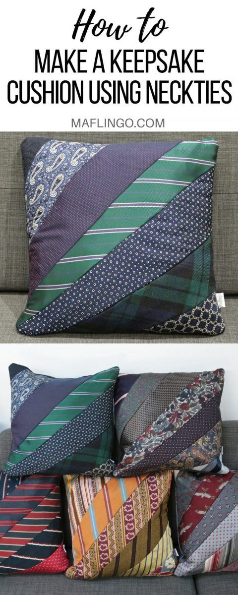 Making Precious Memories How To Make A Cushion Using Ties