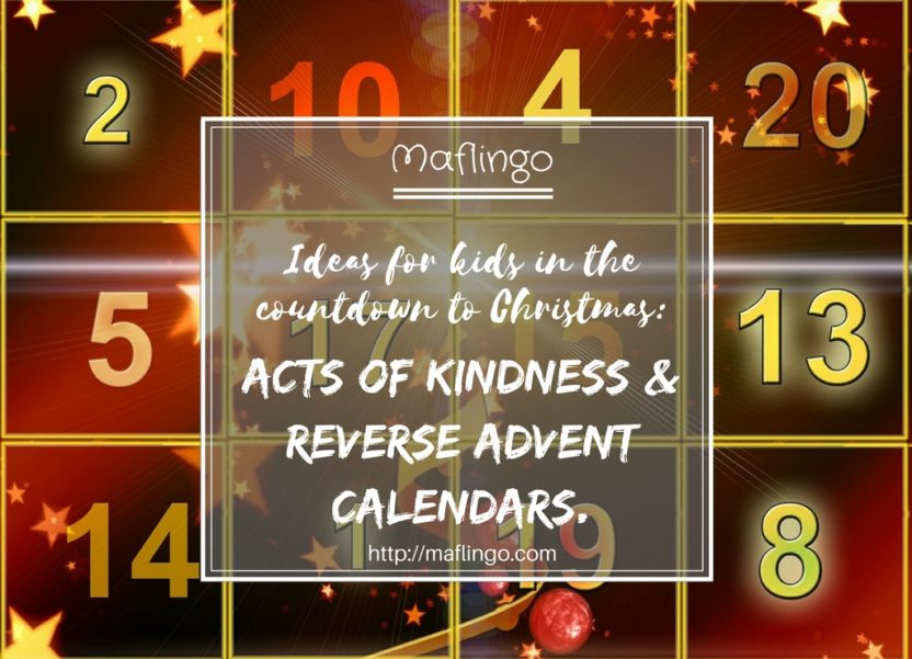 Reverse Advent Calendar Ideas : Countdown to christmas kindness giving reverse advent