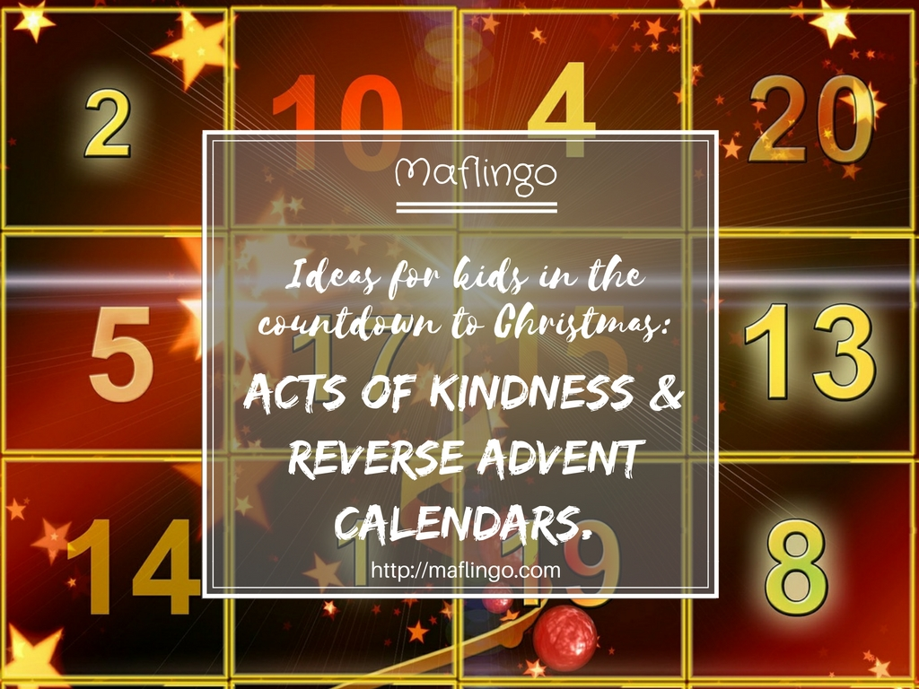 Countdown To Christmas Kindness Giving Reverse Advent Calendars