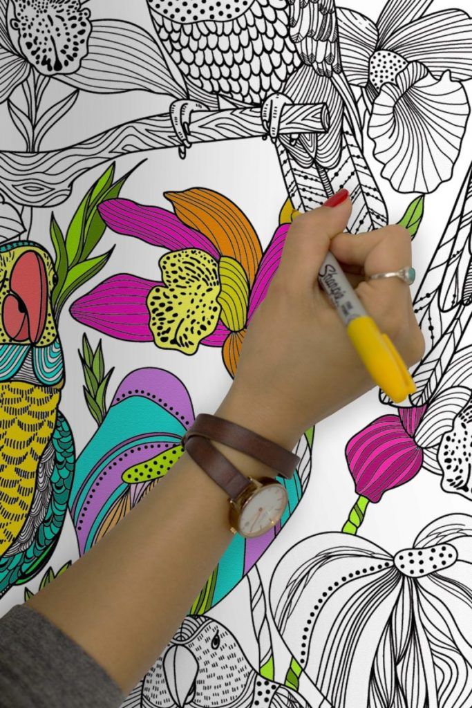 Removable Colouring Wall Murals