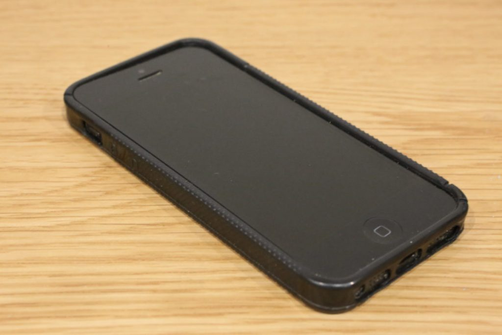 iPhone 4s in black plastic case