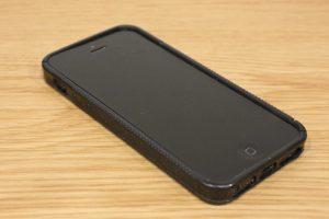 iPhone 4s in black plastic case