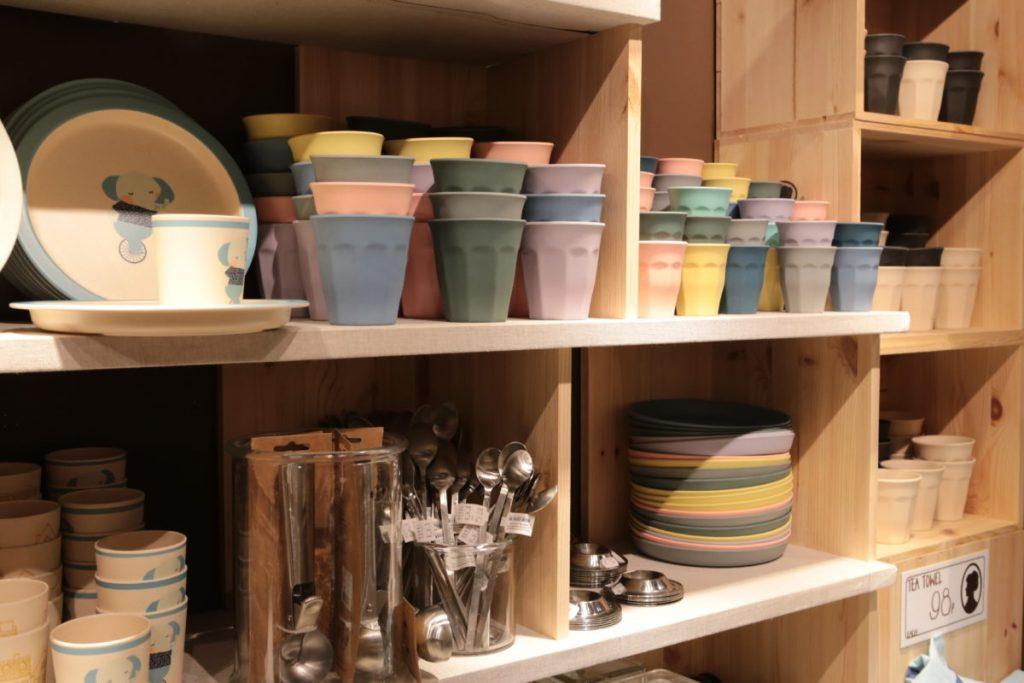 Shelves filled with kitchenware in Sostrene Grene
