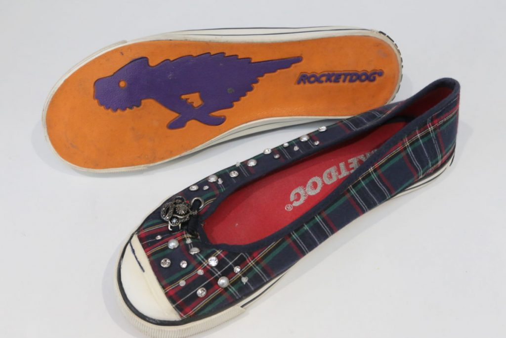 Rocket Dog tartan Pumps from a charity shop