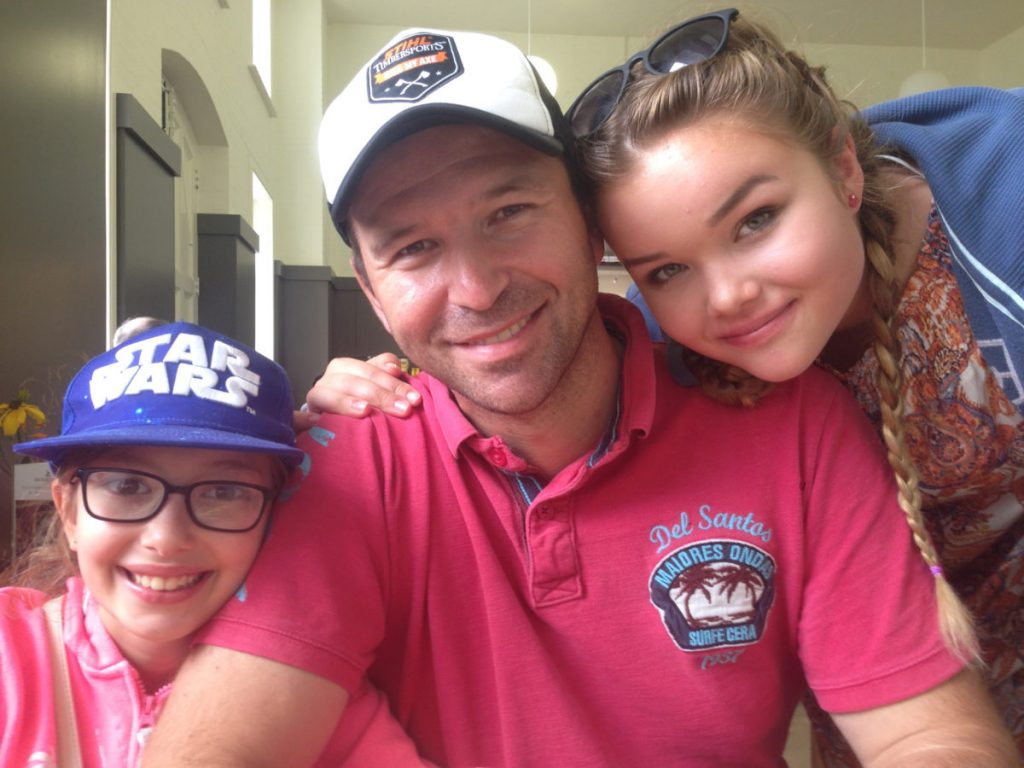 Richard, with our daughters on our recent holiday to Norfolk