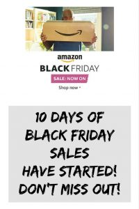 The Black Friday Sale at Amazon has started & runs for 10 days. Get shopping early for Christmas. Buy cut-price bargain gifts of technology, books, DVDs, toys, Audio, Visual, phones, fashion items now!