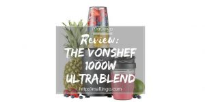 The VonShef 1000w UltraBlend blender will blend your fruit and vegetables to make smoothies, milkshakes, drinks, soups and purees.