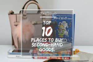 My Top 10 places for buying second-hand, used, preloved gifts and products in the UK. Buy more for less and consider giving and receiving secondhand gifts for birthday and Christmas presents. Feature image.