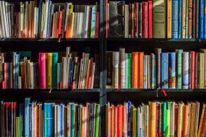 Bookcases full of books