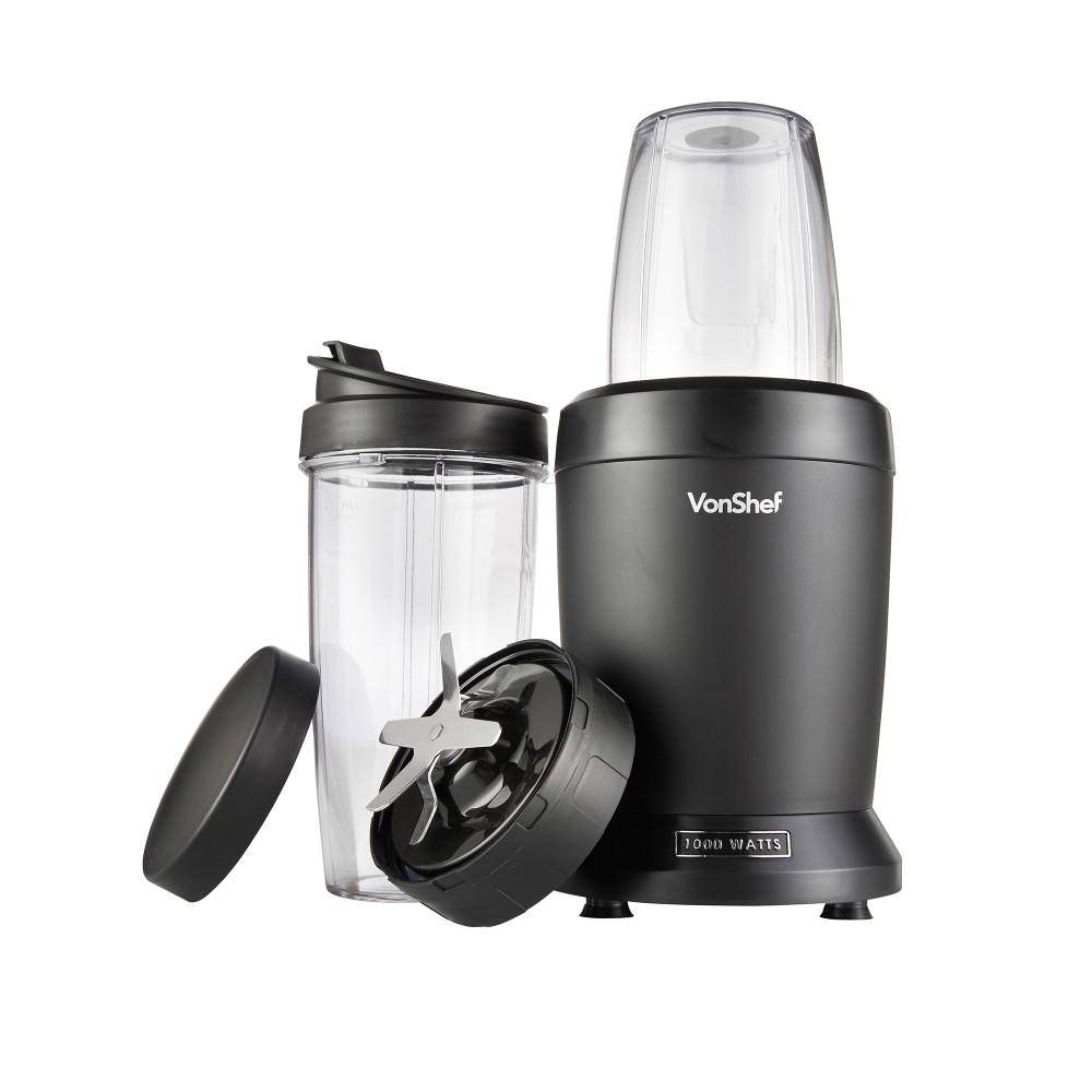 What's in the box? The VonShef 1000w UltraBlend blender will blend your fruit and vegetables to make smoothies, milkshakes, drinks, soups and purees.