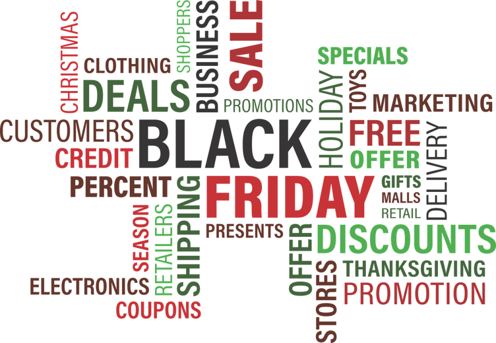 Words related to Black Friday Sales