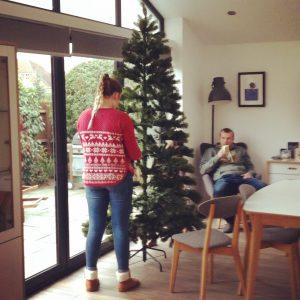 Our new 'fake' Christmas tree