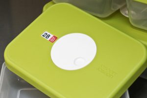The lid on the Joseph Joseph Dial Food storage containers has a unique date dial which enables you to set the expiry date of your foods.