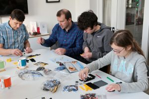 The Lego Christmas Tradition: The Taylor Family build their Christmas Lego kit, the Lego Volvo EW160E