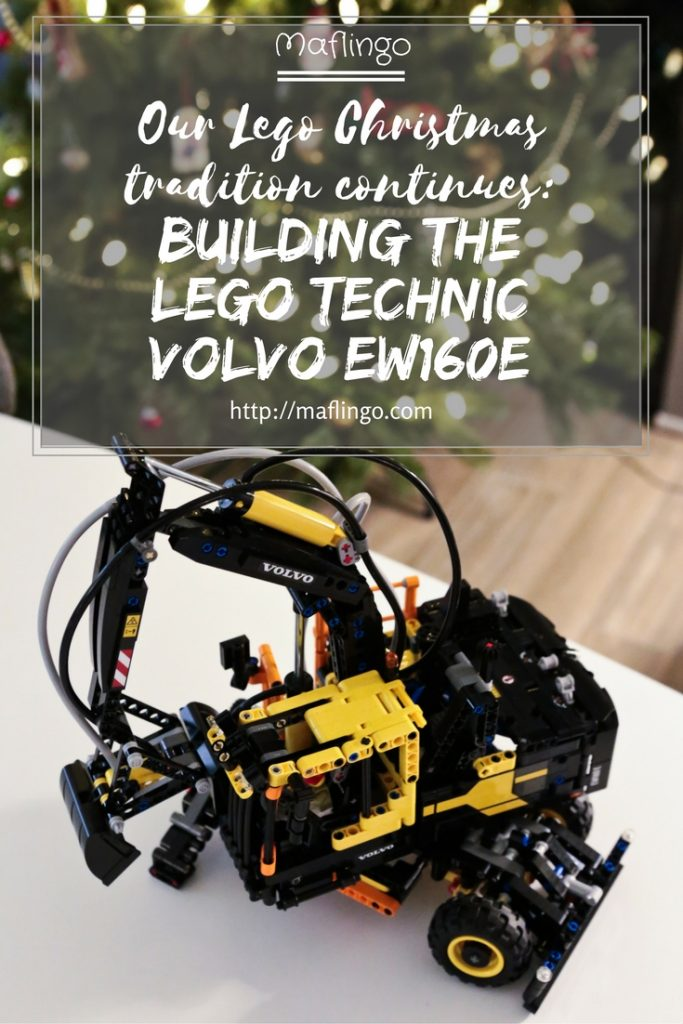 Our family Lego Christmas Tradition: I review building the Technic Lego Volvo EW160E set No: 42053