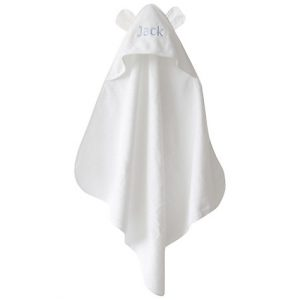 My 1st Years Personalised Hooded Towel With Ears, Ivory