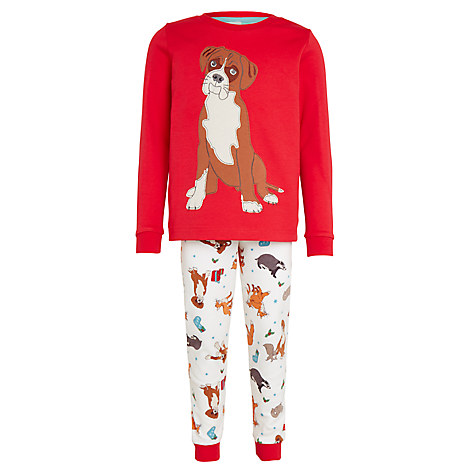 John Lewis Buster the Boxer Pyjamas, Red, John Lewis