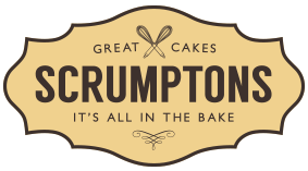 Scrumptons Cakes Logo