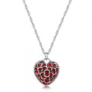 Heart Pendant £19.99, The Royal British Legion online shop www.poppyshop.org.uk