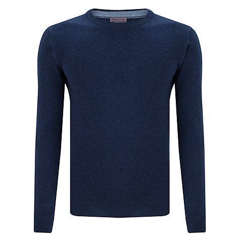 John Lewis Made in Italy Cashmere Crew Neck Jumper, Blue
