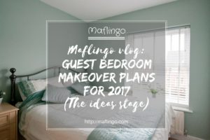 Maflingo vlog: Guest bedroom makeover plans for 2017.