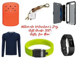 Maflingo's ultimate valentine's gift guide 2017: For Him. I've chosen 6 of my favourite ideas for valentine's gifts for the man on your life. Cashmere jumper, Litelok bike lock, Fitbit Charge 2, Zippo hand warmer, tech21 Wallet Active iPhone case, Tile Mate tracker
