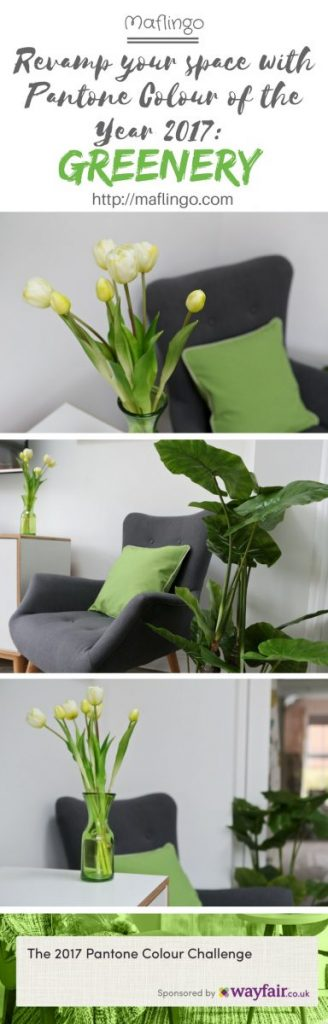 Revamp your space with Pantone 2017 Colour of the Year: Greenery and a bit of inspiration from Wayfair. Add green to living rooms and spaces in the form of houseplants, flowers, cushions, curtains, wall art, prints, wallpaper. This muted lime is a great addition to your home decor and interior plans this year.