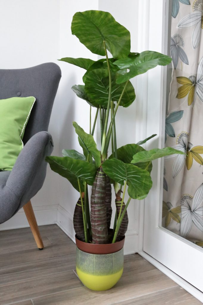 Wayfair Pantone Greenery inspiration artificial Taro plant in pot
