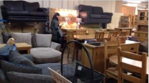 One of the furniture salesrooms at Arthur Johnson auction
