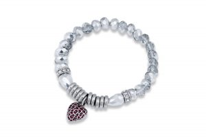 , Facet Bead and Heart Bracelet £9.99