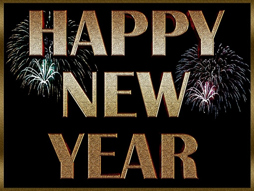 Happy New Year 2017 with fireworks. Happy New Year resolutions
