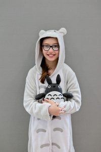Emily in her Totoro Costume for World Book Day Front view